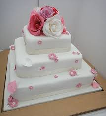 3 tier wedding cake with red roses tier heart wedding cake with