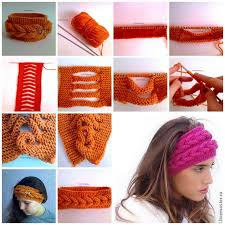 knitted headband wonderful diy unique knitted headband