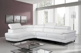 Leather Corner Sofa Bed Furniture Cosmo White Leather Corner Sofa Featuring Glass Coffee