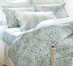 paisley 400 thread count duvet cover u0026 sham porcelain blue
