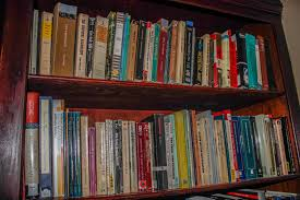 lots of books on my shelves caris adel