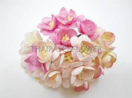 100 pink mixed paper flower cherry blossoms scrapbook card making