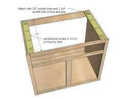 Full Overlay Kitchen Cabinets Ana White Kitchen Cabinet Sink Base 36 Full Overlay Face Frame