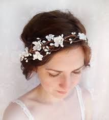 floral hair accessories vestida para casar praia crown and hair accessories