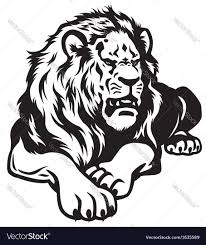 lion black white royalty free vector image vectorstock