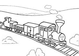 thomas train railroad coloring thomas train