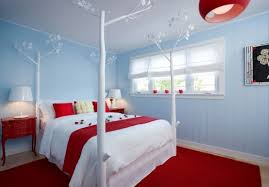 blue and red bedroom ideas red aqua bedroom decor with unique canopy bed in white with red