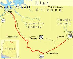 Northern Arizona Map by Black Mesa And Lake Powell Railroad Wikipedia