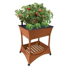Raised Patio Planter by Emsco Easy Pickers Raised Garden Grow Box With Stand 2335 The