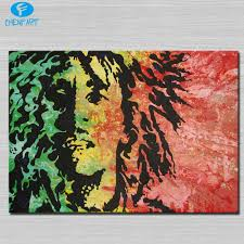 bob marley painting wall picture abstract art wall painting for