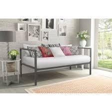 Single Metal Day Bed Frame Metal Trundle Bed Frame Daybed Colors Walmart Frames