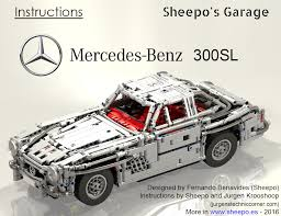 lego mini cooper instructions sheepo u0027s garage mercedes benz 300sl u002754 instructions
