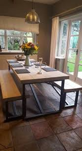 Cleaning A Wooden Dining Table by Hudson Living Kielder Oak Dining Table And Bench Set By Modish