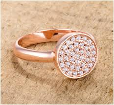 gold pave rings images Krystal rose gold pave circle cluster fashion cocktail ring 0 8 jpg