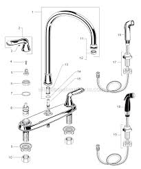 parts of kitchen faucet american standard 4275 550 f15 parts list and diagram