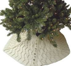 cable knit christmas how to make a christmas tree skirt christmas decoration crafts