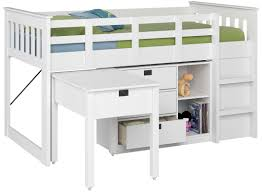 Bunk Bed With Storage And Desk Deion Low Loft Bed With Storage Reviews Allmodern
