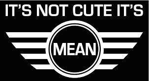 subaru jdm stickers it u0027s not cute it u0027s mean mini cooper custom vinyl jdm