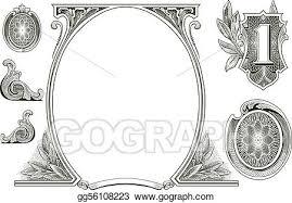 vector stock vector money ornaments stock clip gg56108223