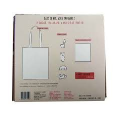 horloge a personnaliser totebag à personnaliser kit diy tote bag customisation tote bag