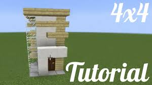 Modern House by Minecraft Tutorial How To Build A 4x4 Modern House Easy Youtube