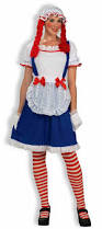 Rag Doll Halloween Costume Rag Doll Raggedy Ann Doll Dress Costume Womens Ebay