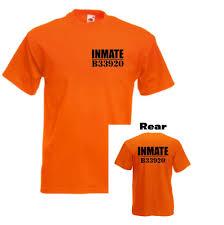 inmate halloween costume orange inmate novelty mens prison tshirt fancy dress dress up