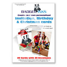 20xa4pyocard 20 print your own personalised greeting cards a4