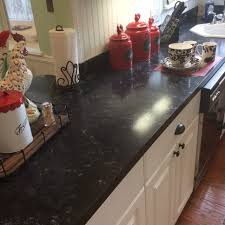 Faux Granite Faux Granite Counters For 80 Using Giani Bombay Black Paint Love