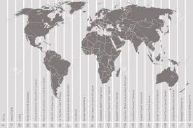 Time Zone Map by World Map And Time Zones Royalty Free Cliparts Vectors And Stock