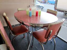 chrome dining room sets vintage chrome dinette set sweet pink seating pretty in pink