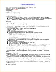 Proper Resume Template Proper Format Of Resume Best Template 2016 Resumes Cover Letter
