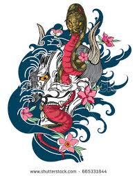 hand drawn black white snake tattoo stock vector 574650973