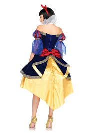 halloween costumes snow white blue yellow 3 piece deluxe snow white costume amiclubwear