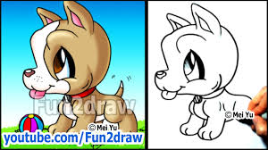 boxer dog youtube pitbull puppy how to draw a dog cute easy cartoon tutorial