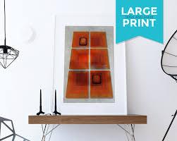 Mid Century Modern Print Geometric Squares Vintage Retro Abstract