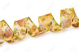 decorative ribbon curly decorative ribbon isolated on white background stock photo