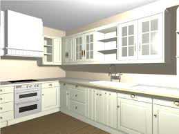 Laminate Floor Kitchen White Cabinetry With Granite Countertop Also Cream Wall Paint