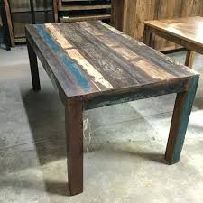 reclaimed wood dining table nyc reclaimed wood furniture macky co