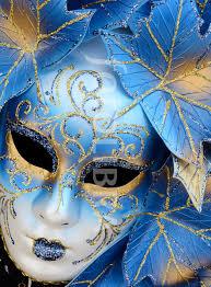 carnevale masks blue venice carnival mask italy