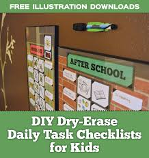 kids organization diy dry erase daily routine checklists for kids with free