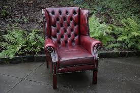 Cheap Leather Armchairs Uk Leather Georgian Wing Chair Second Hand Household Furniture Buy