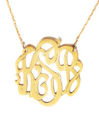 gold monogram necklace stylish sweet gifts for s day monograms metals and moon