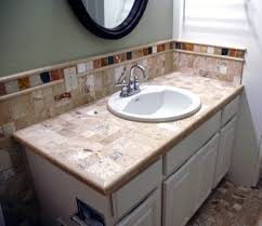 Bathroom Vanity Counter Top Tile Bathroom Countertop Mesmerizing Ideas Mesmerizing Glass Tile