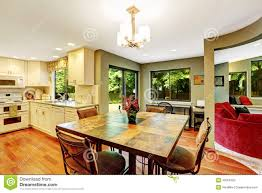 small kitchen eating table area interior stock images image