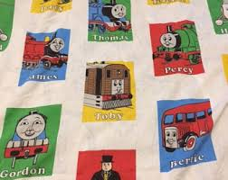 thomas train sheets etsy