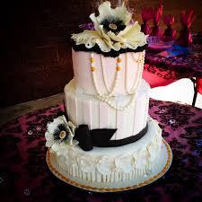 pink u0026 black baby shower cake bakeshopmarie