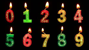 number birthday candles birthday candle stock footage