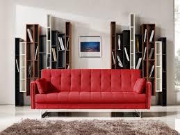 divani casa tejon modern red fabric sofa bed sofa beds living room