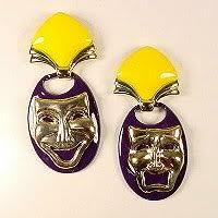 mardi gras earrings mardi gras earrings awnol